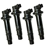 CALTRIC SET OF 4 IGNITIONS IGNITION COIL FITS YAMAHA YZF-R6 YZFR6 YZF R6 1999-2002