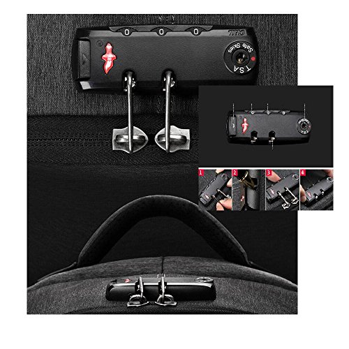antirrobo viaje Bolsa moda Mochilas negocios Paquetes B de bandolera Múltiples de de B funciones doble equipo impermeable de pq5qUA6