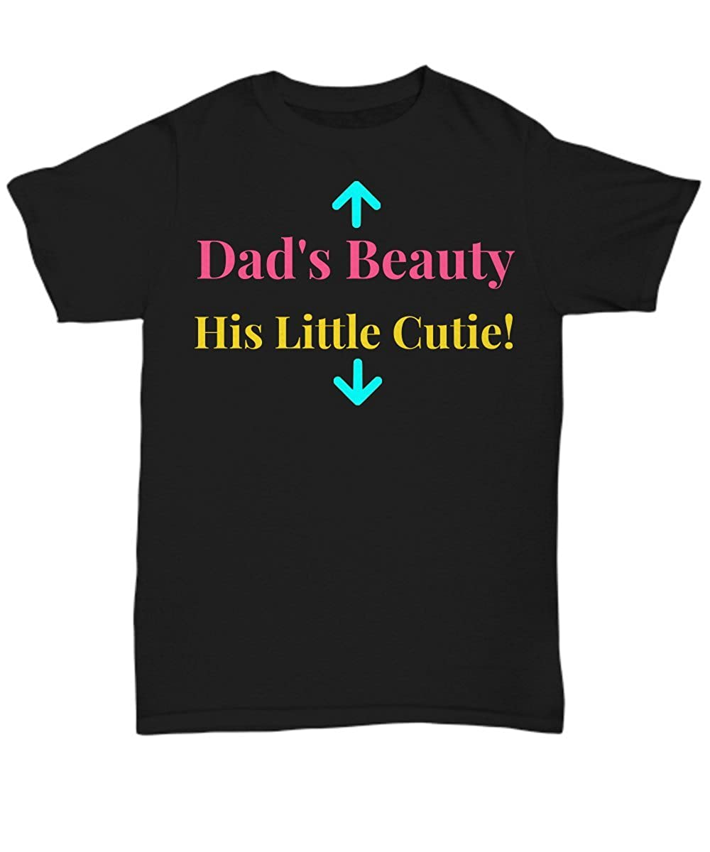 Schur-Link Brands T-Shirt For Expecting Mom His Little Cutie Unisex Tee Dads Beauty