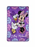 Disney Minnie Mouse Friends Forever Super Soft Toddler Blanket, Purple/Pink