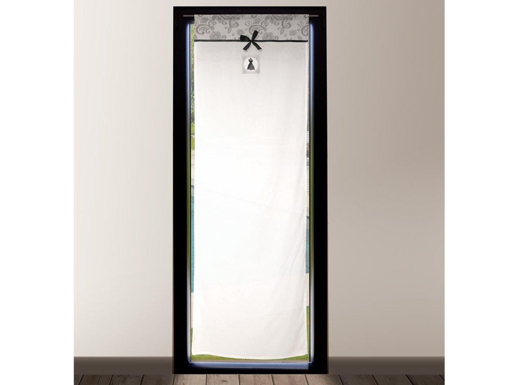 Soleil d'Ocre 046705 Black Dress Brise bise Coton Gris 70 x 200 cm SELARTEX