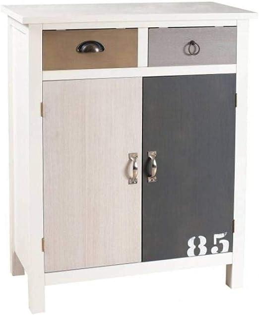 INSIDE Meuble 2 Portes 2 tiroirs Hugo Style Bord de mer ...