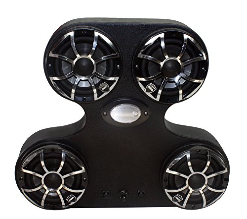 Froghead Industries Stereo for Polaris RZR 1000 AMPHIB400CX 4 Speaker Wet  Sounds Bluetooth Stereo System