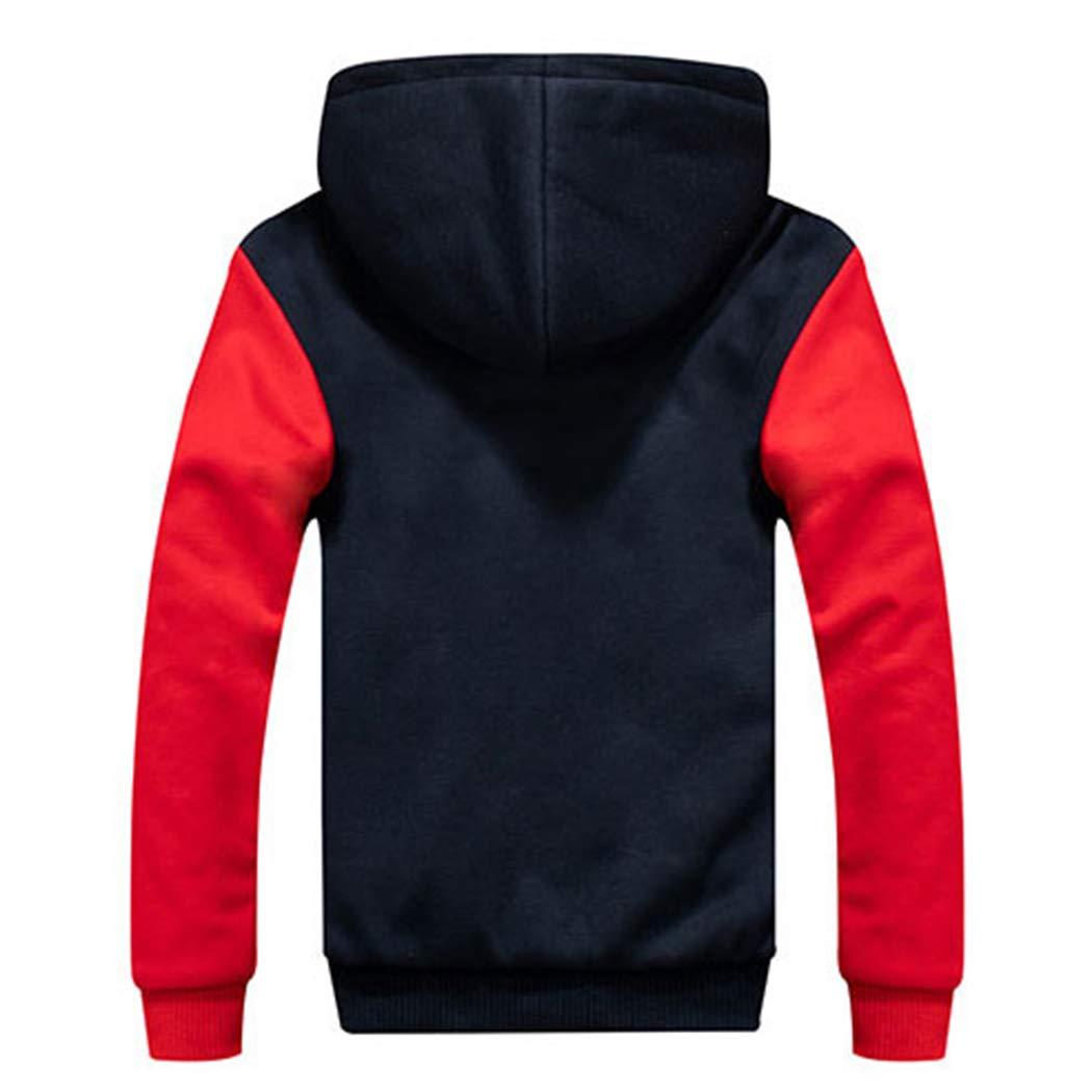 Modern Fantasy Mens Camo Thicken Hoodie Jackets Fleece Sherpa Lined Warm Coat Classic Winter Outwear