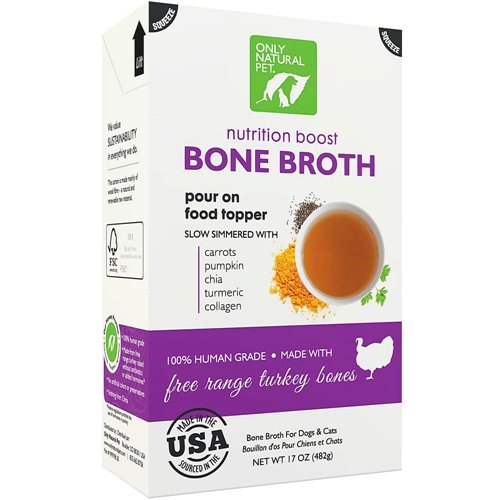 Only Natural Pet Free Range Turkey Bone Broth 17 oz