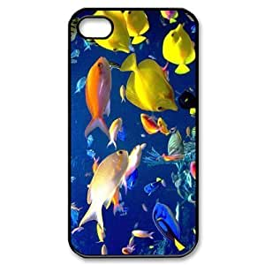 THYde Cheap phonecase, Colorful undersea world picture for black plastic iphone 6 4.7 case ending