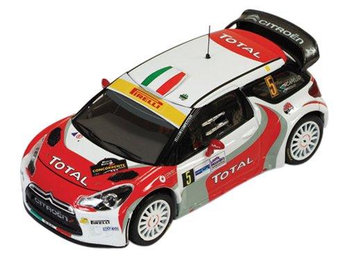 1/43 シエトロン DS3 WRC 2011年モンツァラリー 3位 R.Capello-L.Pirollo #5(ホワイト×レッド×ライトグリーン) ナイトポット付 RAM468