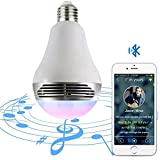 Bluetooth_4.0 Light Bulb with Speaker - Magic Hue Smart Multicolored Disco Music Party Light Bulb - Dimmable Tunable White Wake Up LED Light with Alarm