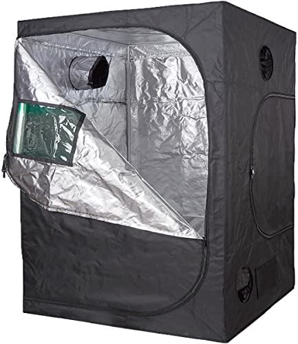 TopoLite 60 x60 x80 Grow Tent Reflective Mylar for Hydroponic Indoor Planting 60 x60 x80 Metal Corner Window