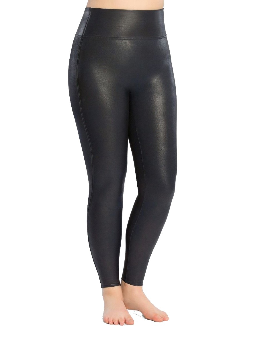 SPANX Plus Size Ready-to-Wow Faux Leather Leggings, 2X, Night Navy