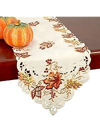 GRELUCGO Elegant Thanksgiving Holiday Table.
