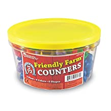 Learning Resources Friendly Farm Animal Counters (72 Pc)