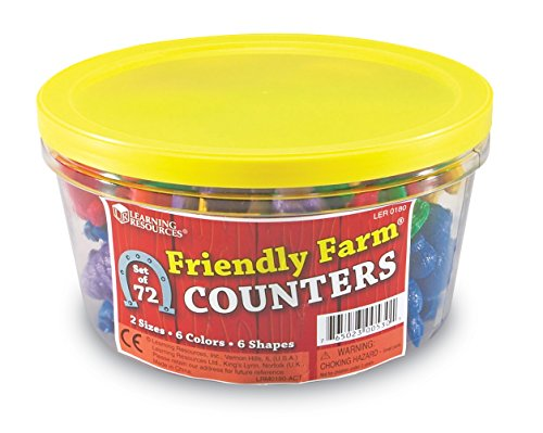 Learning Resources Friendly Farm Animal Counters, 72 pieces Friendly Animals