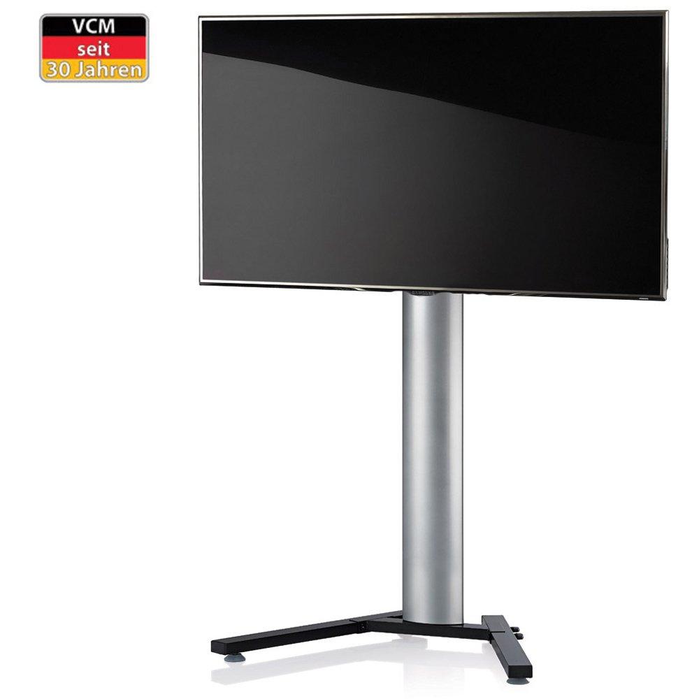 VCM TV-Standfuß LED Ständer Fernseh Standfuss Alu Glas Stahl Universal Universell Schwenkbar Drehbar VESA