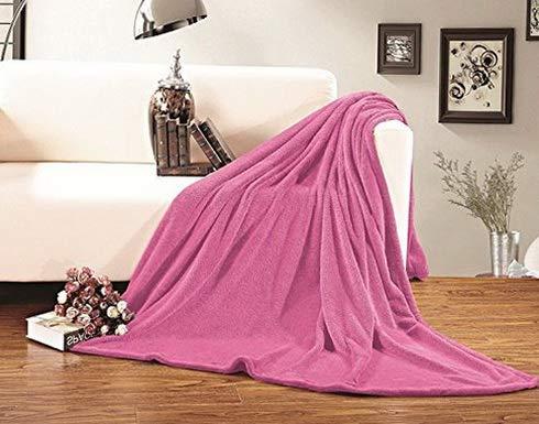 Tinkerbell Stadium - Hebel Micro-Fleece Ultra Plush Luxury Solid Blanket, Twin/Twin X-Large, Pink | Model BLNKT - 4 | 92Twin/ Twin XL