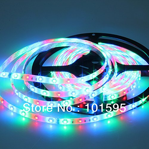 Corcrest(TM) New Waterproof 3528 RGB LED Strip 5M 60leds/m SMD+24key remote+12V 2A Power Adapter Flexible Light by Corcrest (Image #1)