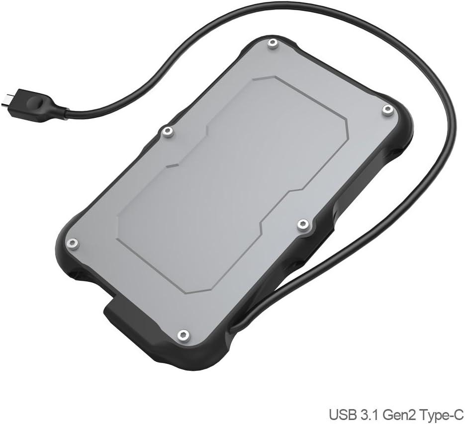 USB 3.1 Gen2 SATA Carcasa para Disco Duro Externo de 2.5: Amazon ...