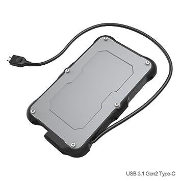 USB 3.1 Gen2 SATA Carcasa para Disco Duro Externo de 2.5 - PeakLead C2580 Impermeable Alojamiento Caja con SATA HDD y SSD, Hard Disk Drive Estuche, ...