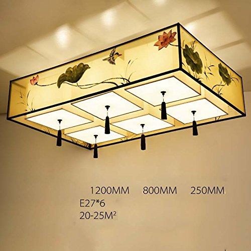 MEILING Moderne Tuch Lampen und Laternen Restaurant Lichter Schlafzimmer Rechteckige Deckenleuchten ( größe : 120cm )