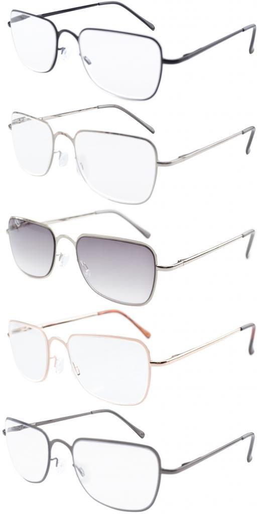 Eyekepper Reading Glasses Fashion Reading Eyeglasses Men Women Grey, 2.50