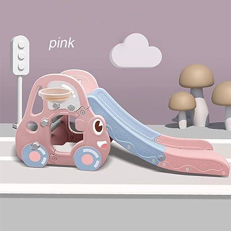 XXM Niños Diapositiva Diapositiva Infantil, Zona de Juegos Área de Juegos Jardín de Diapositivas de plástico Juguetes para niños Deslizante para Cubierta,Rosado: Amazon.es: Deportes y aire libre