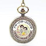 Custom Made Quartz Pocket Watch for Wedding Gift, Custom Made Watch for Anniversary Memorial Day