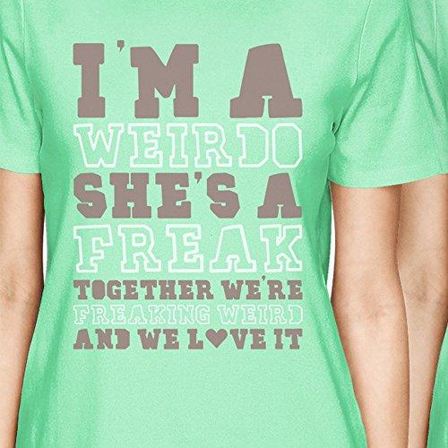 Size Shirt corte Printing menta One Maniche donna 365 5Xw4q65