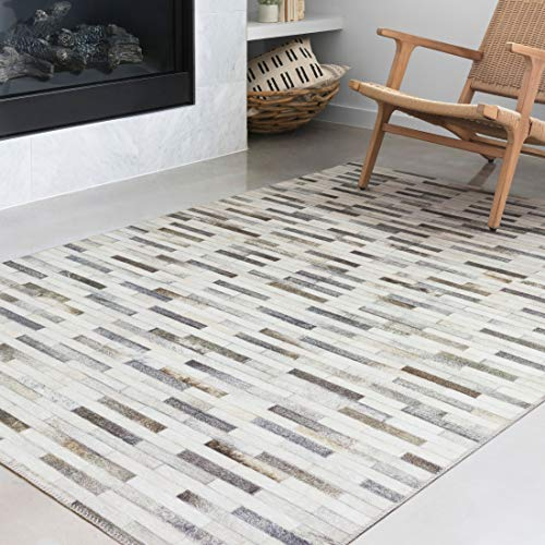 Loloi II Maddox Collection AD-01 Faux Cowhide Patchwork Print Area Rug 2