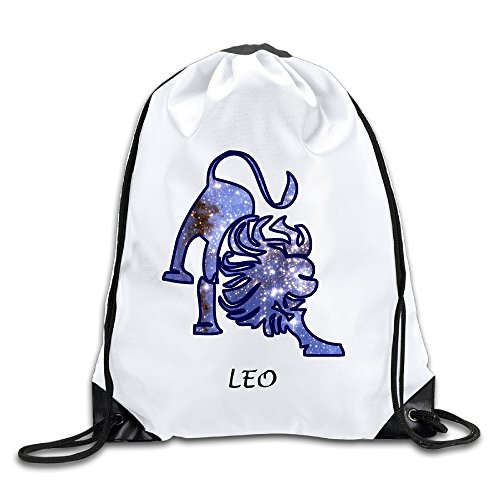 Houston Drawstring Astros Mlb - Discovery Wild Leo Zodiac Star - July 23 - August 21 Polyester Drawstring Backpack Tote Sport Bag Home Travel Sport Storage Use