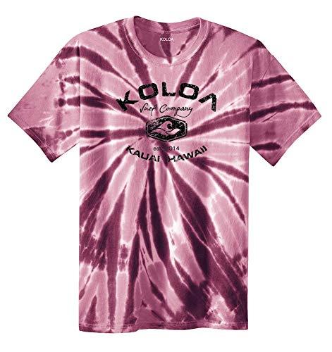 Koloa Surf(tm) Vintage Arch Logo Tie Dye Shirt-Maroon/b-S ()