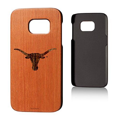 Keyscaper Texas Longhorns Cherry Wood Galaxy S7 Case NCAA ()