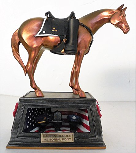 The Trail Of Painted Ponies 'Fallen Heroes Memorial Pony' Statuette by Westland Giftware 2005 -