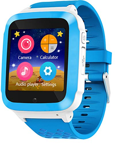 DanCoTek Smart Watch for Kids Girls Boys Children Unlocked 2G GSM Phone Phone Watch with Games (Blue)