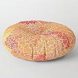 Floor Pillow | Lounging Pillow | Large Pillow | Decorative Pillow | Chrysanthemum Print | Round Pillow | Stuffed Floor Pouf | Floor Seating