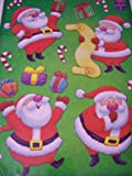 Christmas Reusable Window Clings ~ The Many Sides of Santa: Checking His List, Delivering Gifts, Shhh Plus Candy Canes! (13 Clings, 1 Sheet)