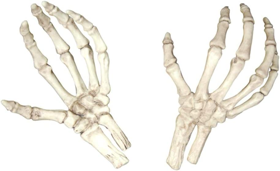 Plastic Skeleton Hands Halloween Party Decoration 6 Pairs