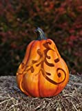Medium Scrollwork Solar Pumpkin