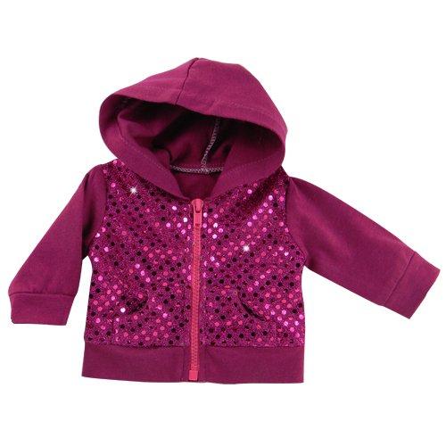 Sequin Detailed 18 Inch Doll Hoodie Hot Pink Sweatshirt Fits 18″ American Girl Dolls and More! Sequin Pink Doll Sweatshirt Hoodie, Baby & Kids Zone
