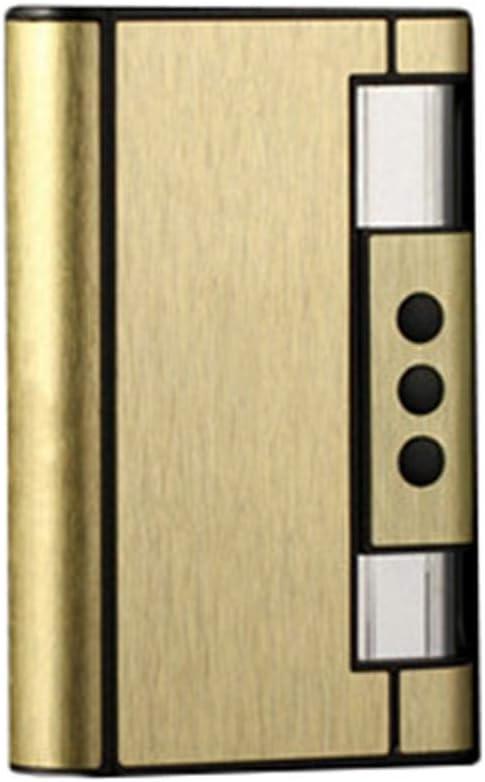 Pitillera Yuan Ou Cajas de Cigarrillos portátiles con Aceite de Queroseno antorcha Encendedor de Cigarrillos Soporte de Caja de Metal Encendedor Gadget para Hombres Navidad Oro