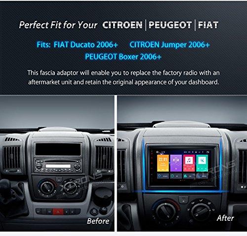 xtrons doble 2 din Marco de radio para PEUGEOT BOXER, FIAT DUCATO/Citroen Jumper para radio de coche kit instalación Panel Placa: Amazon.es: Coche y moto