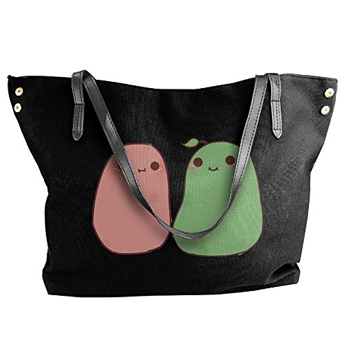 Canvas Handbags Women's Handbag Kawaii Tote Large Shoulder Black Potato Fz0qwdzP