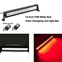 """Night Break Light 10""""-12"""" Led Light Bar with Remote Controller White and Red Color Changing Led Light Bar for Off-road SUV Boat 4x4 Jeep Lamp 4wd"""