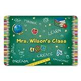 Lillian Vernon Personalized Teacher's Classroom Mat - 27'' x 18'' Non-Skid Rubber Back, Polyester Doormat, Gift for Teacher, Custom Welcome Mat