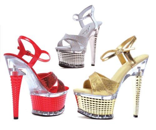 Disco Women's Black Shoes 649 Ellie Platform Glitter Sandal qPB86tfcT