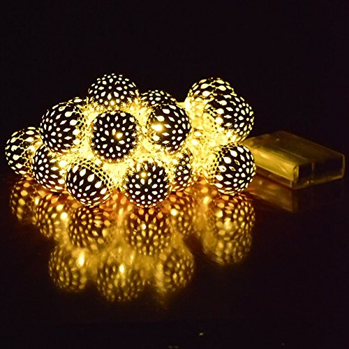 Battery Powered Globe Lights - Patterned