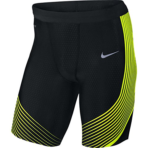 Nike Mens Power Speed Half Tights Black/Volt Size Large