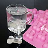 Fun Penis Sharped Silicone Ice Cube Tray Mold Chocolate Candy Jello Mold Tool