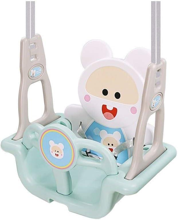 Zunruishop Columpios Silla Colgante al Aire Libre Columpio de Juguete para niños Silla Interior Desmontable para bebé Cesta Hamaca de Cuerda Colgante (Color : Blue)