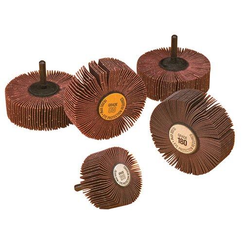 "TTC Aluminum Oxide Flap Wheel - Diameter: 2-1/2"" Width: 1"""