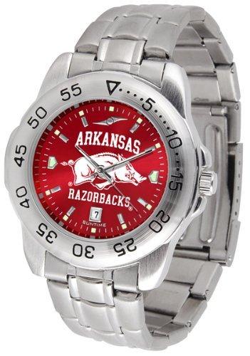 Arkansas Razorbacks Stainless Steel Men's Sport Watch - Arkansas Razorbacks Clock